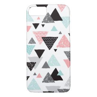 Geometric grunge hand drawn triangle pastel print iPhone 7 case