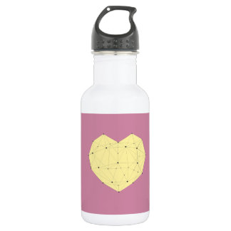 Geometric Heart 532 Ml Water Bottle