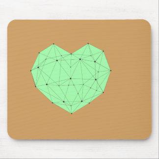 Geometric Heart Mouse Pad