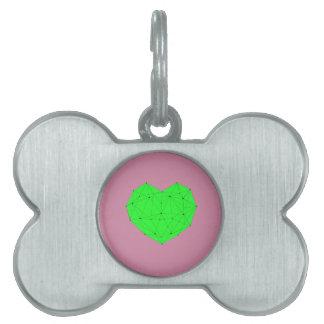Geometric Heart Pet ID Tag