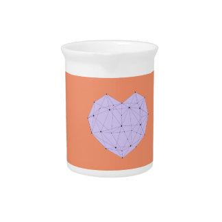 Geometric Heart Pitcher