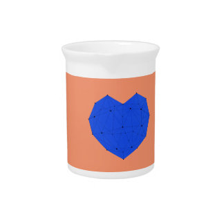 Geometric Heart Pitcher