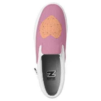 Geometric Heart Slip On Shoes