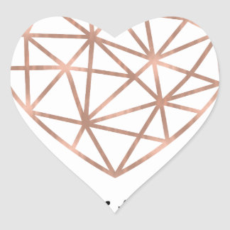 Geometric Heart Smitten Heart Sticker