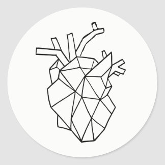 Geometric heart Stickers
