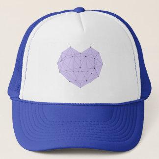 Geometric Heart Trucker Hat