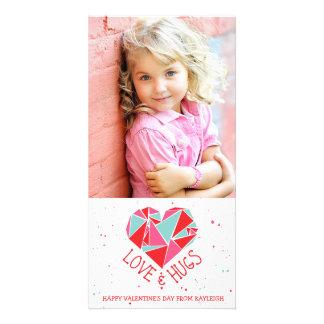 Geometric Heart Valentine's Day Photo Card