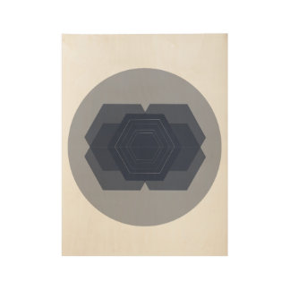Geometric Hexagon Minimal Wood Print