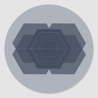 Geometric Hexagon Stickers