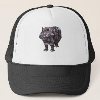 Geometric Hippo Trucker Hat