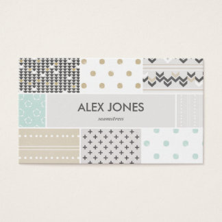 Geometric Hipster Patterns Business Card