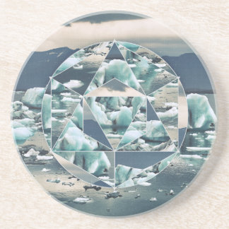 Geometric Icebergs Abstract Drink Coasters