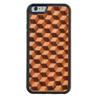 Geometric Illusion Carved Cherry iPhone 6 Bumper Case