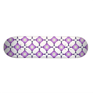 Geometric in Blue and Purple Skateboard