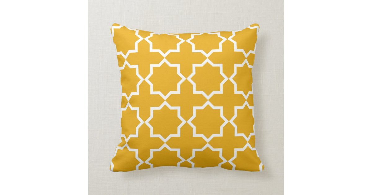 Geometric islamic pattern inspired throw pillow throw cushions Zazzle