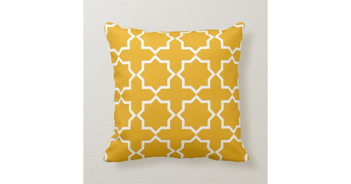 Throw Pillow Design Patterns : Geometric islamic pattern inspired throw pillow throw cushions Zazzle