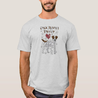 Geometric Jack Russell Terrier T-Shirt