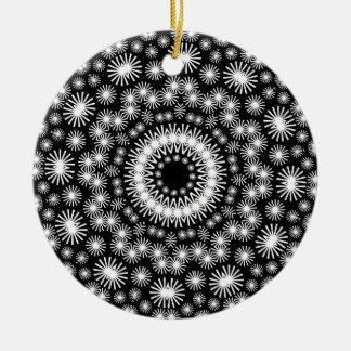 Geometric Kaleidoscope 01 Round Ceramic Decoration