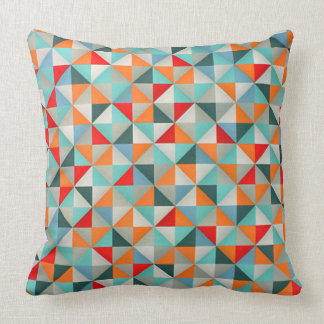 Geometric Kaleidoscope  Triangles Throw Pillow