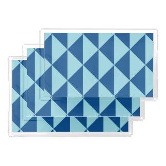 Geometric Lapis Island Paradise Blue Arrows Acrylic Tray