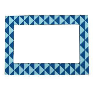 Geometric Lapis Island Paradise Blue Arrows Magnetic Frame