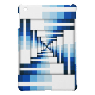Geometric Layers of Blue iPad Mini Cover