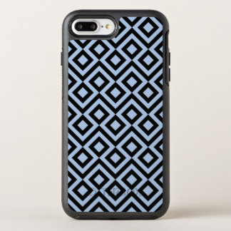 Geometric Light Blue and Black Meander Pattern OtterBox Symmetry iPhone 7 Plus Case