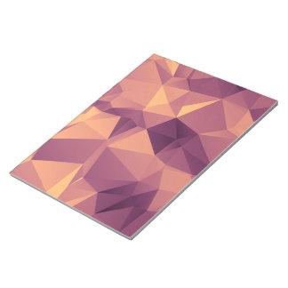 Geometric Lilac Fractal Pattern Notepad