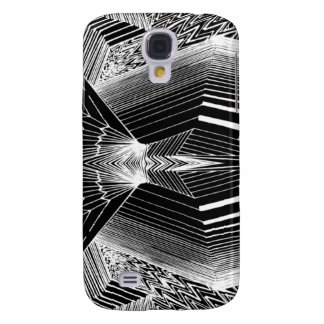 Geometric Line Art Black & White Abstract Design Galaxy S4 Cover