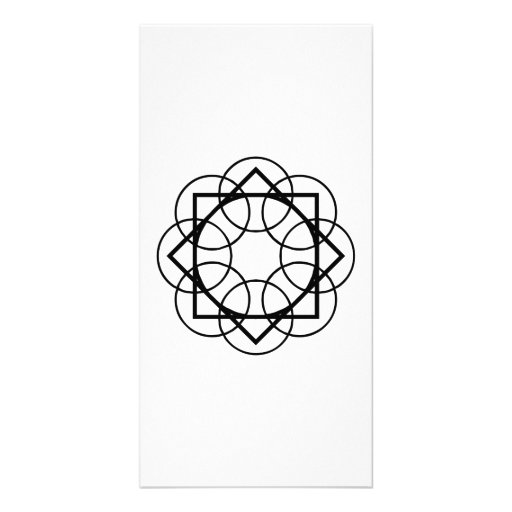 Geometric Line Art Photo Cards
