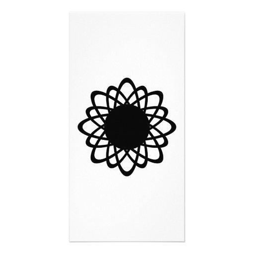 Geometric Line Art Customized Photo Card