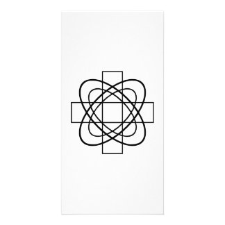 Geometric Line Art Picture Card