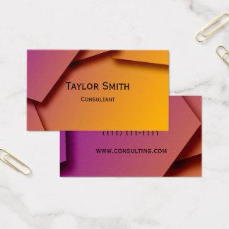Geometric line trendy modern business card design