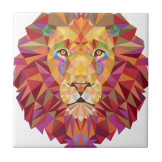 Geometric Lion Ceramic Tile