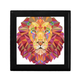 Geometric Lion Small Square Gift Box