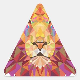 Geometric Lion Triangle Sticker