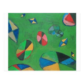 Geometric Lotus Pond (geometric expressionism) Postcard