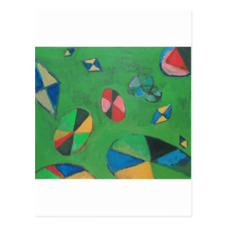 Geometric Lotus Pond (geometric expressionism) Post Cards