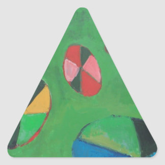 Geometric Lotus Pond geometric expressionism Stickers