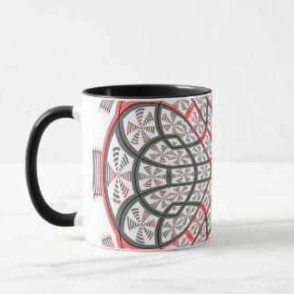 Geometric mandala mug