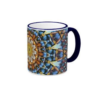 Geometric Mandala Ringer Coffee Mug