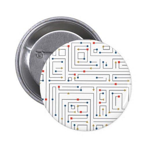 Geometric Maze Pinback Button