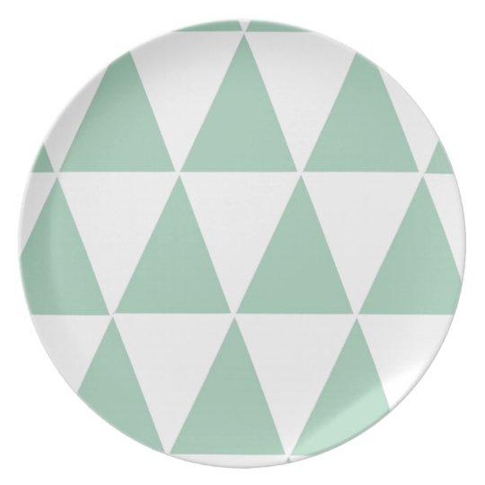 Geometric Melamime Plate