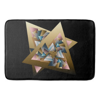 Geometric Metallic Triangle Art Bath Mat