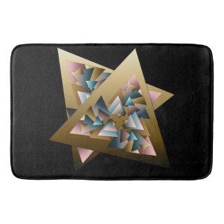 Geometric Metallic Triangle Art Bath Mats