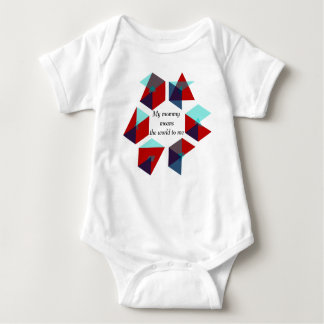 Geometric Minimalism Abstract - mommy love Baby Bodysuit