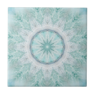 Geometric Mint Aqua Sea Star Bathroom Tile
