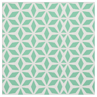 Geometric mint fabric