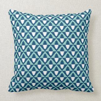 Geometric Modern Christmas Trees Pillow Cushion