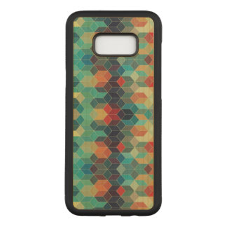 Geometric Modern Colorful Cubes Pattern Carved Samsung Galaxy S8+ Case
